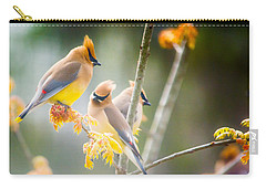 Carry-all Pouch featuring the photograph Cedar Waxwing Beauty by Parker Cunningham