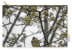 Cedar Waxwings In A Blossoming Tree Carry-all Pouch