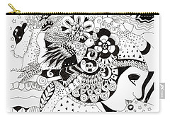 Organic Abstraction Drawings Carry-All Pouches