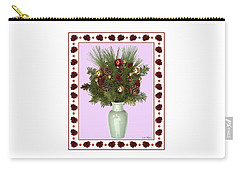 Celadon Vase With Christmas Bouquet Carry-all Pouch
