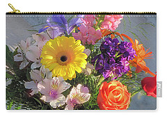 Carry-all Pouch featuring the photograph Celebrate With A Bright Bouquet by Nancy Lee Moran