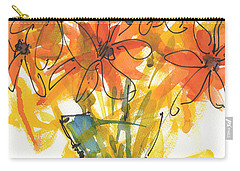 Celebration Of Sunflowers Watercolor Painting By Kmcelwaine Carry-all Pouch