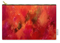 Celebrations Wedding Orange Abstract  Carry-all Pouch