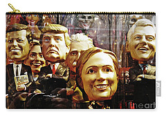 Celebrity Bobbleheads 1 Carry-all Pouch by Sarah Loft