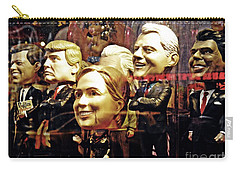Celebrity Bobbleheads 2 Carry-all Pouch by Sarah Loft