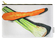 Celery And Carrot Together Carry-all Pouch