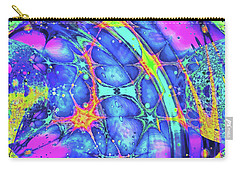 Carry-all Pouch featuring the digital art Celestial Burst by Wendy J St Christopher