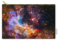Celestial Fireworks Carry-all Pouch by Marco Oliveira