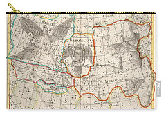 Celestial Map - Map Of The Constellations - Cygnus, Hercules, Lyra - Astronomical Chart Carry-all Pouch