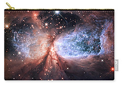 Carry-all Pouch featuring the photograph Celestial Snow Angel - Enhanced - Sharpless 2-106 by Adam Romanowicz