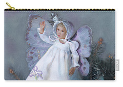 Carry-all Pouch featuring the painting Celestine Snow Fairy by Nancy Lee Moran