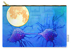 Cell Division Under Full Moon Carry-all Pouch by Mojo Mendiola