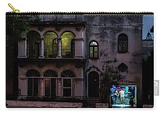 Carry-all Pouch featuring the photograph Cell Phone Shop Havana Cuba by Charles Harden