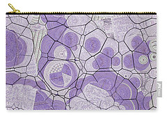 Carry-all Pouch featuring the digital art Cellules - 03c2 by Variance Collections