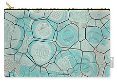 Carry-all Pouch featuring the digital art Cellules - 04c1 by Variance Collections