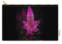 Carry-all Pouch featuring the photograph Celosia Intenz by Judy Hall-Folde