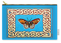 Carry-all Pouch featuring the painting Celtic Butterfly by Lise Winne