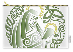 Celtic Green Madonna Carry-all Pouch