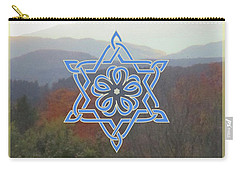 Celtic Hexagram Rose In Blue Carry-all Pouch