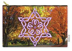 Celtic Hexagram Rose In Lavandar Carry-all Pouch