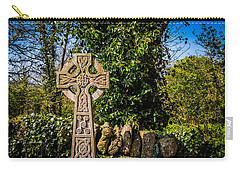 Celtic Knots Decorate A Celtic Cross Carry-all Pouch