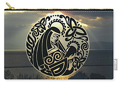 Celtic Madonna Over Sunset Carry-all Pouch
