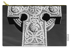 Carry-all Pouch featuring the photograph Celtic Stone Cross At Sunset by Gary Whitton