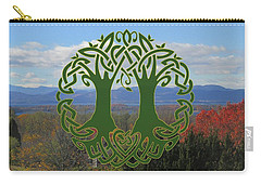 Celtic Wedding Tree In Green Carry-all Pouch
