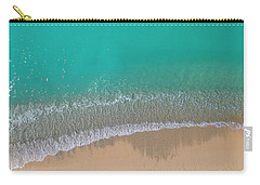 Carry-all Pouch featuring the photograph Cemetery Beach Aerial Panoramic by Adam Romanowicz