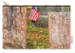 Carry-all Pouch featuring the photograph Cemetery Flag by Tom Singleton