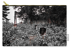 Cemetery In Red Carry-all Pouch