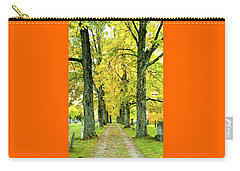 Carry-all Pouch featuring the photograph Cemetery Lane by Greg Fortier