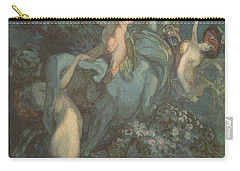 Centaur Nymphs And Cupid Carry-all Pouch by Franz von Bayros