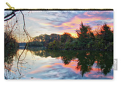Carry-all Pouch featuring the photograph Centennial Lake At Sunrise by Mark Dodd