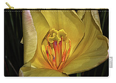 Centerpiece - Grand Opening Yellow Tulip 001 Carry-all Pouch by George Bostian
