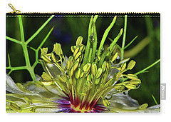 Centerpiece - Love In The Mist Macro Carry-all Pouch by George Bostian