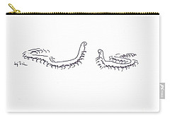 Carry-all Pouch featuring the painting Centipedes In Discussion Cartoon by Kip DeVore