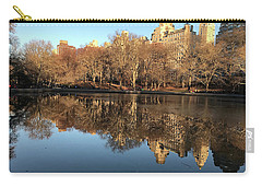 Carry-all Pouch featuring the photograph Central Park City Reflections by Madeline Ellis