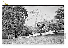 Carry-all Pouch featuring the photograph Central Park In Black And White by Madeline Ellis