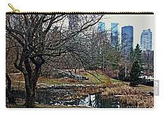 Central Park In January Carry-all Pouch by Sandy Moulder