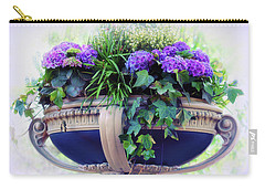 Carry-all Pouch featuring the photograph Central Park Planter by Jessica Jenney