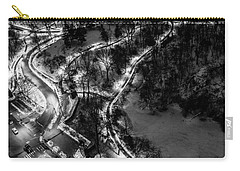 Carry-all Pouch featuring the photograph Central Park Trails by M G Whittingham