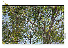 Carry-all Pouch featuring the photograph Central Texas Sky View Through Mesquite Trees by Ray Shrewsberry