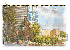 Century Park East And Santa Monica Blvd. In Century City, California Carry-all Pouch by Carlos G Groppa