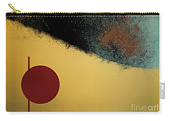 Carry-all Pouch featuring the digital art Ceramic Pixels by Nola Lee Kelsey