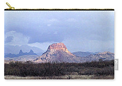 Cerro Castellan And Mule Ears  Carry-all Pouch by Dennis Ciscel