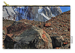 Carry-all Pouch featuring the photograph Cerro Torre 12 by Bernardo Galmarini