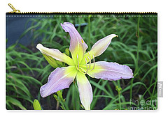 Carry-all Pouch featuring the digital art Cerulean Star Daylily  by Eva Kaufman