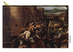 Cesari Giuseppe St Clare With The Scene Of The Siege Of Assisi Carry-all Pouch by Giuseppe Cesari