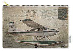 Cessna Skywagon 185 On Vintage Postcard Carry-all Pouch
